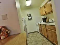 Full view of the kitchen in a Valley Pike Manor apartment